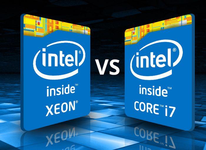 Sự khác biệt giữa CPU Chip Xeon và CPU Core I7