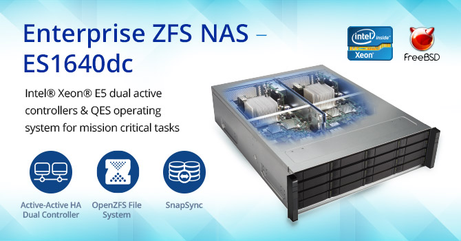 Thiết bị lưu trữ NAS QNAP ES1640dc