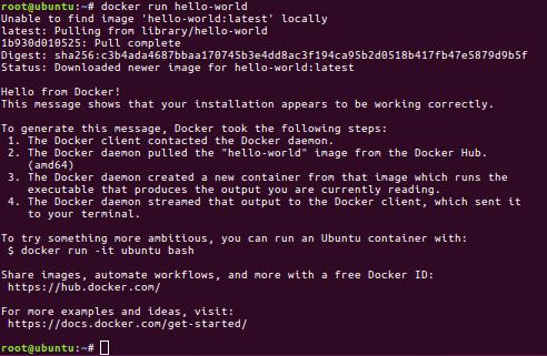 docker run hello-world