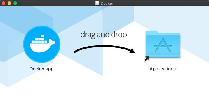 Kéo thả Docker.app vào Application