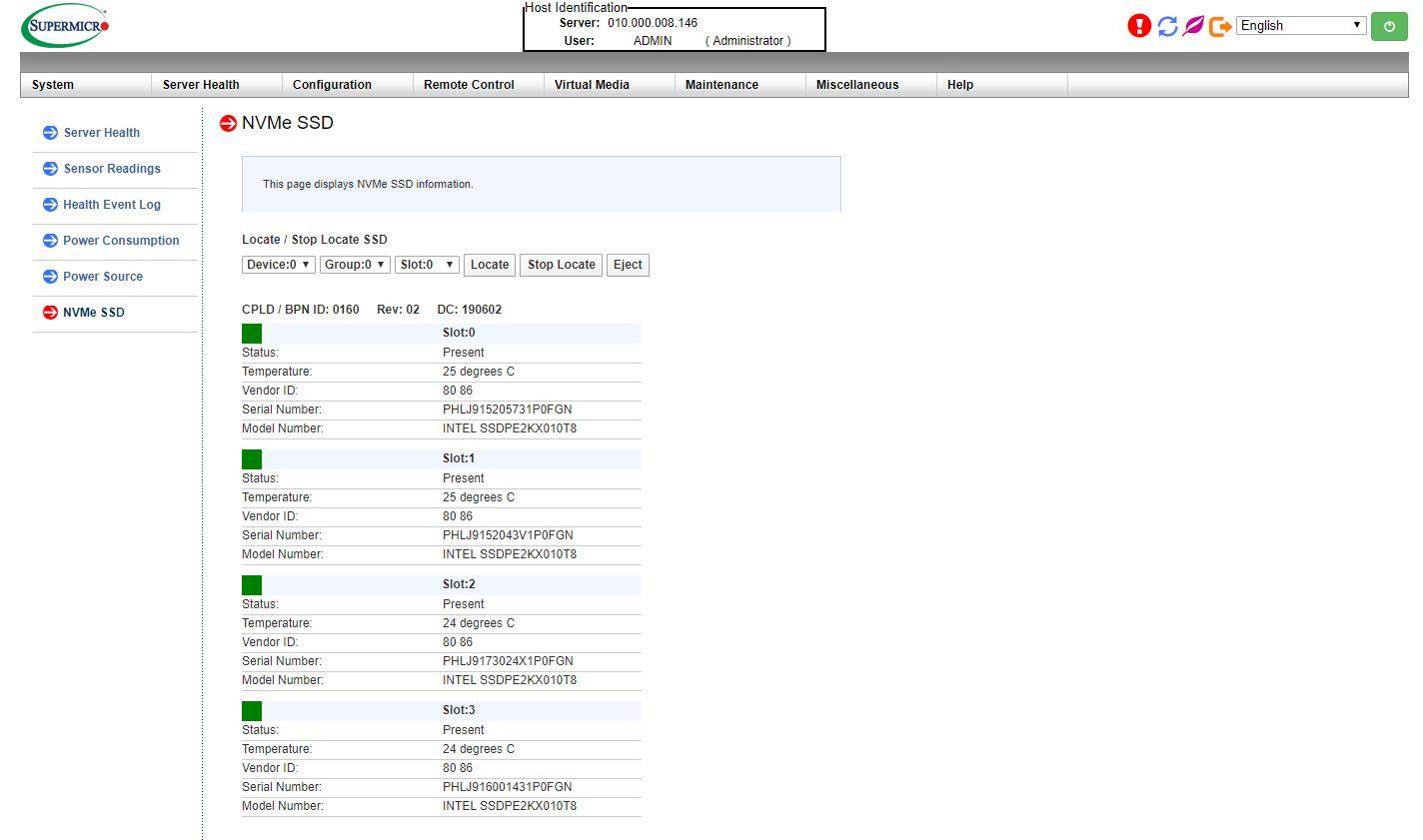 Quản lý siêu thị NVMe SSD Trang