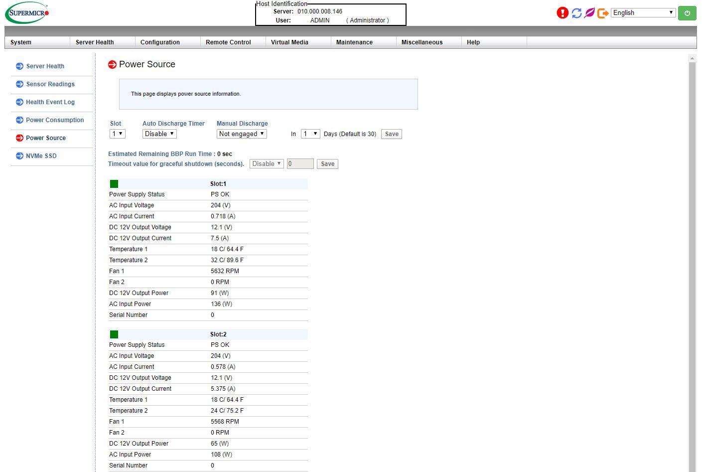 Trang nguồn quản lý Supermicro