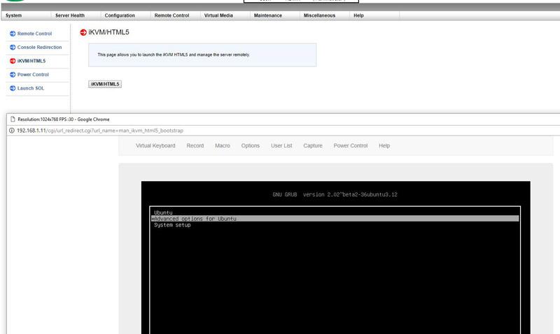 Siêu mẫu X11 HTML5 IKVM