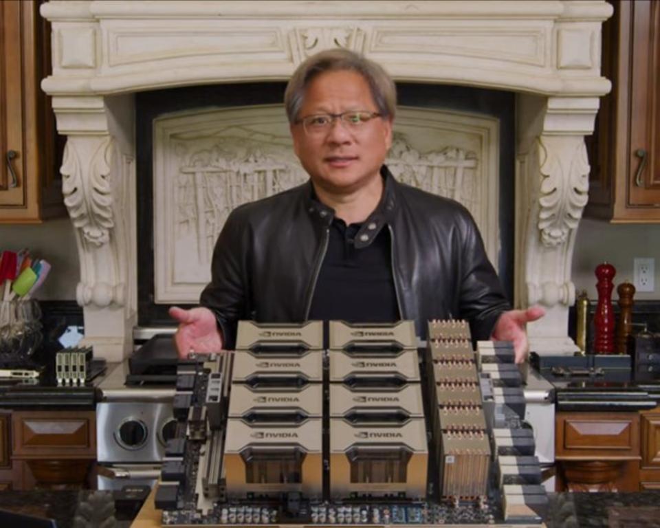Hình ảnh của Jensen Huang từ bài phát biểu GTC 2020
