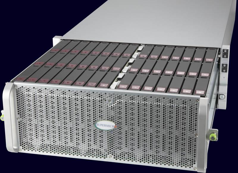 Supermicro SuperStorage SSG 6049SP DE1CR60 Mặt trận ba quý kéo ra