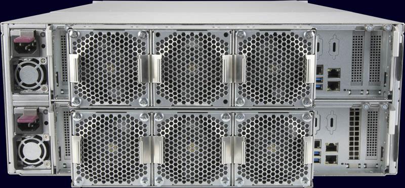Bộ điều khiển kép phía sau Supermicro SuperStorage SSG 6049SP DE1CR60