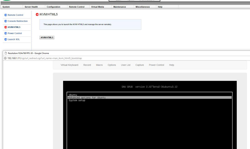 Supermicro X11 HTML5 IKVM