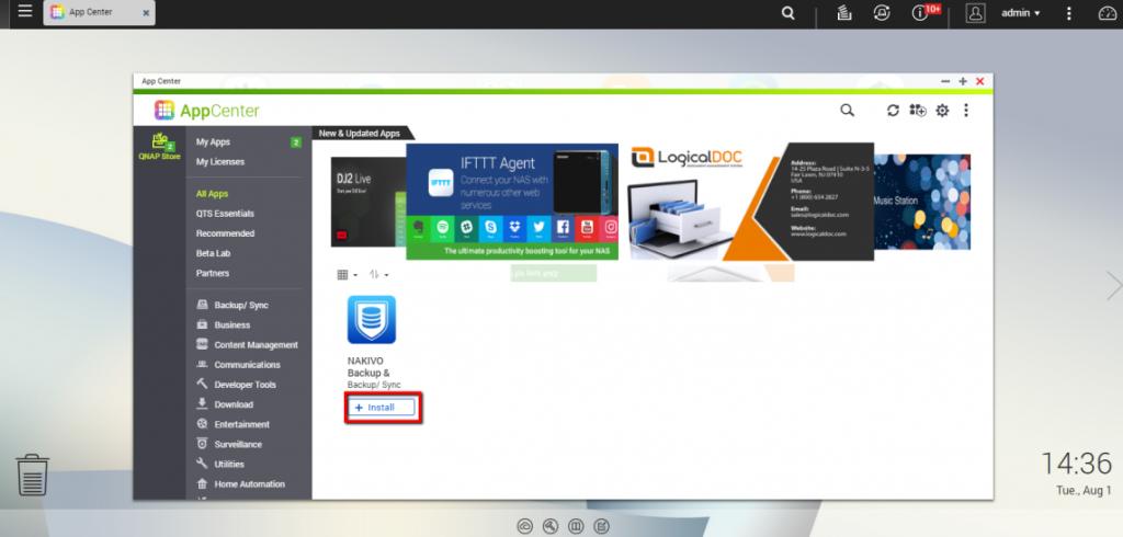 Cài đặt NAKIVO Backup & Replication trên bộ nhớ đính kèm mạng QNAP của bạn