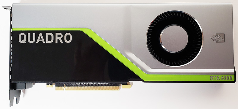 NVIDIA Quadro RTX 6000 Mặt trước