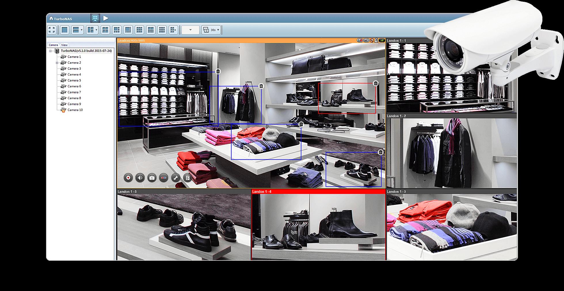 Xem hình ảnh của máy ảnh vật lý và nhiều khu vực lấy nét trong một chế độ xem