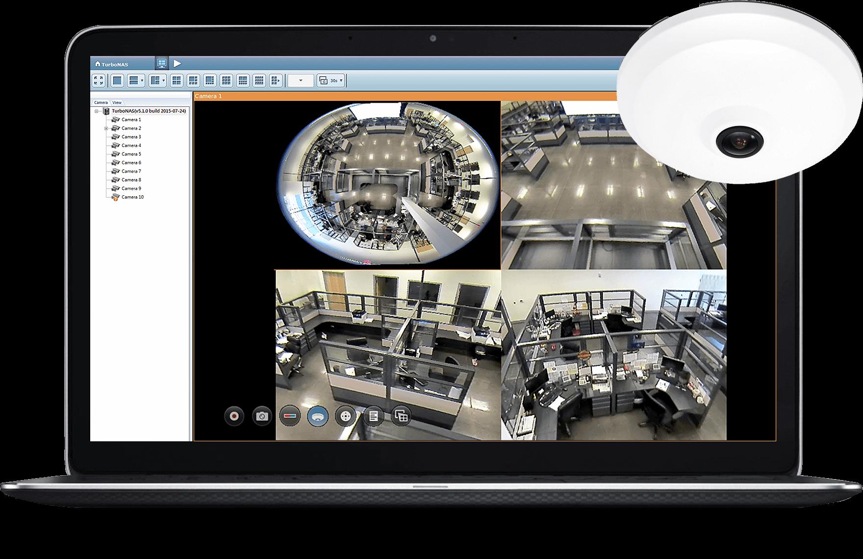 Công nghệ Dewarp QNAP cho các ứng dụng giám sát khác nhau
