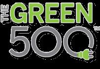 Logo 500 màu xanh lá cây